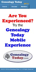 Try the Genealogy Today Mobile Experience