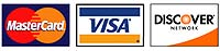 We gladly accept Mastercard, Visa and Discover Cards